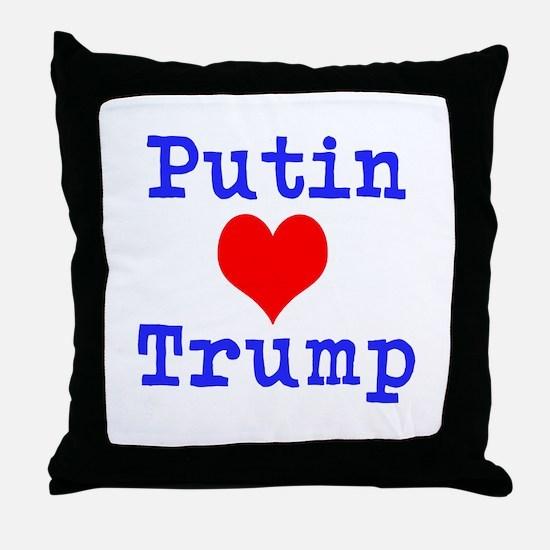 Putin Loves Trump Throw Pillow