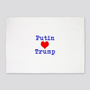 Putin Loves Trump 5'x7'Area Rug