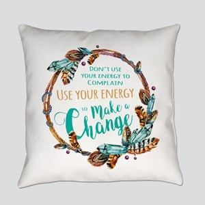 Make a Change Wreath Everyday Pillow