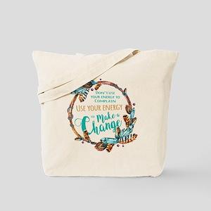 Make a Change Wreath Tote Bag