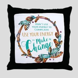 Make a Change Wreath Throw Pillow