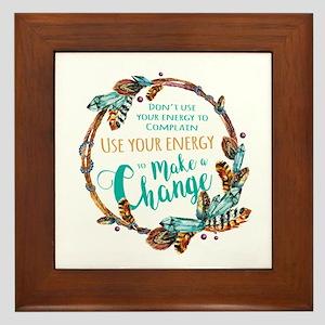 Make a Change Wreath Framed Tile