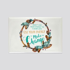 Make a Change Wreath Rectangle Magnet