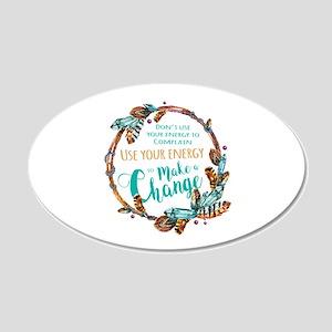 Make a Change Wreath 20x12 Oval Wall Decal
