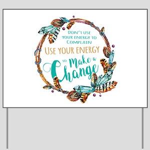 Make a Change Wreath Yard Sign