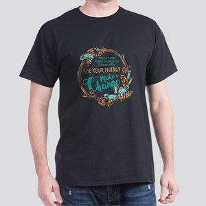 Make a Change Wreath Dark T-Shirt