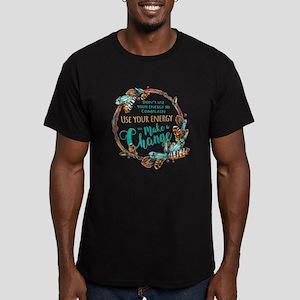 Make a Change Wreath Men's Fitted T-Shirt (dark)
