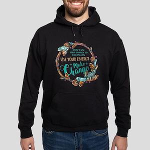 Make a Change Wreath Hoodie (dark)
