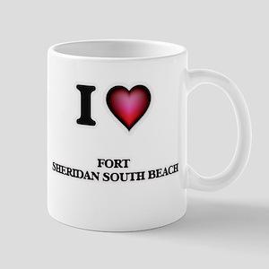 I love Fort Sheridan South Beach Illinois Mugs