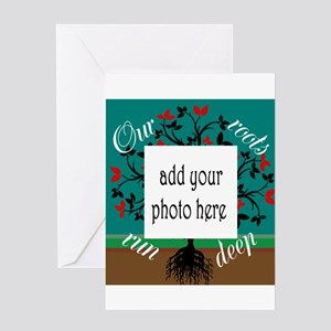 Our roots run deep: personalize Greeting Cards