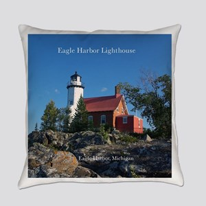 Eagle Harbor Lighthouse Everyday Pillow