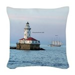 Chicago Breakwater Light And Woven Throw Pillow