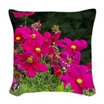 Cosmo Flowers Woven Throw Pillow