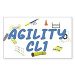 CL1 Agility Title Rectangle Sticker