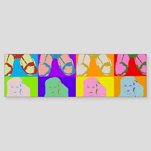 Pop Art Design Bumper Sticker