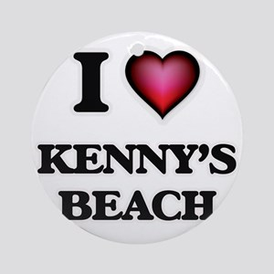 I love Kenny'S Beach New York Round Ornament