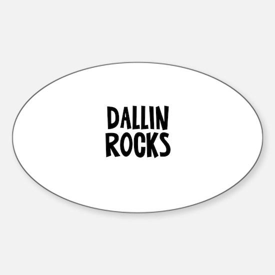 Dallin Rocks Oval Decal