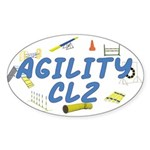 CL2 Agility Title Oval Sticker