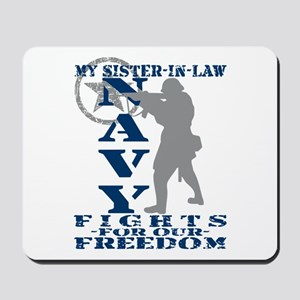 Sis-n-Law Fights Freedom - NAVY Mousepad