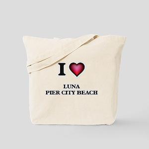 I love Luna Pier City Beach Michigan Tote Bag