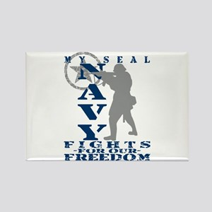 Seal Fights Freedom - NAVY Rectangle Magnet