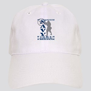 Grndson Fights Freedom - NAVY Cap