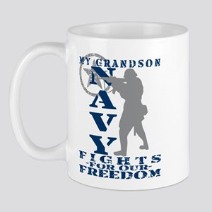 Grndson Fights Freedom - NAVY Mug