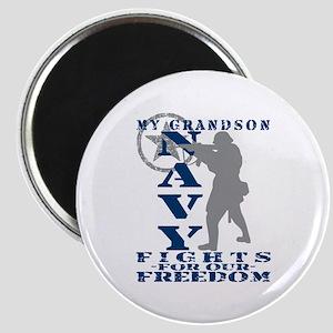 Grndson Fights Freedom - NAVY Magnet