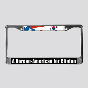 Korean-American For Clinton License Plate Frame