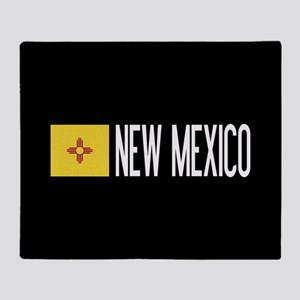 New Mexico: New Mexican Flag & New M Throw Blanket