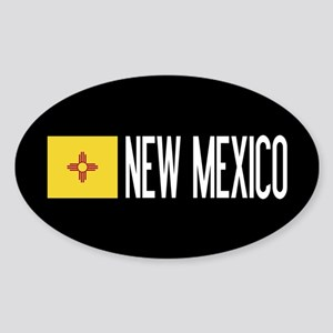 New Mexico: New Mexican Flag & New Sticker (Oval)