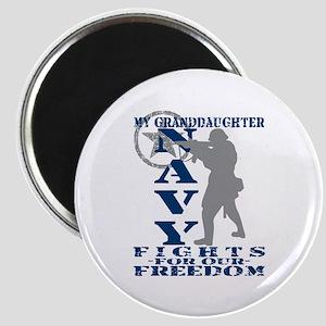 Grnddghtr Fights Freedom - NAVY Magnet