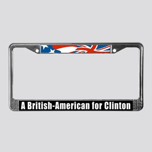 British-American For Clinton License Plate Frame