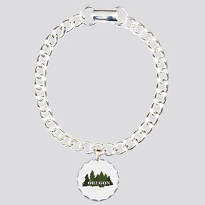 oregon trees logo Charm Bracelet, One Charm