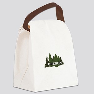 oregon trees logo Canvas Lunch Bag