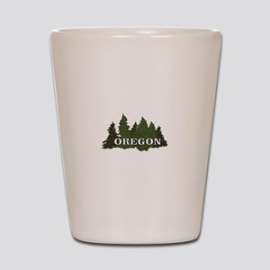 oregon trees logo Shot Glass