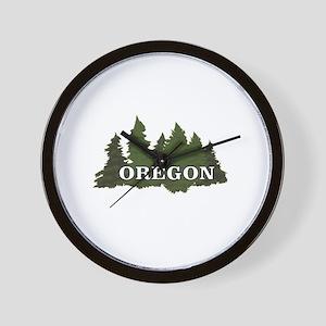 oregon trees logo Wall Clock