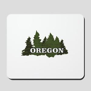 oregon trees logo Mousepad