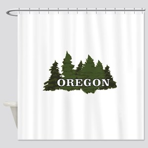 oregon trees logo Shower Curtain