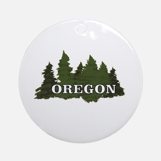 oregon trees logo Round Ornament