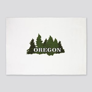 oregon trees logo 5'x7'Area Rug