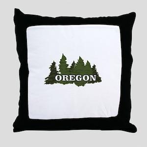 oregon trees logo Throw Pillow