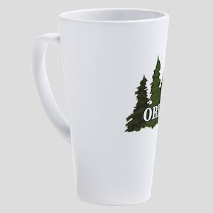 oregon trees logo 17 oz Latte Mug