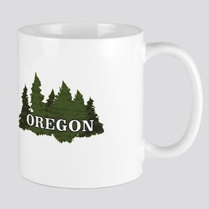 oregon trees logo Mugs