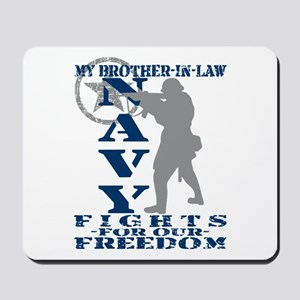 Bro-n-Law Fights Freedom - NAVY Mousepad