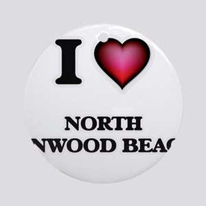 I love North Linwood Beach Michigan Round Ornament
