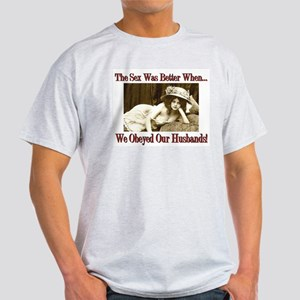 Vintange Sex Was Better Ash Grey T-Shirt