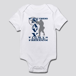 Best Friend Fights Freedom - NAVY Infant Bodysuit