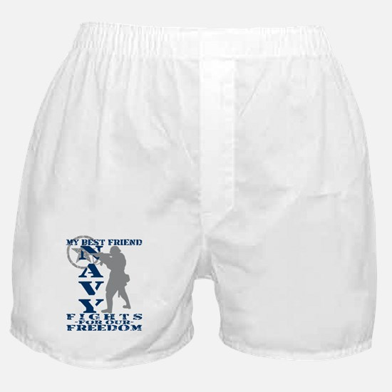 Best Friend Fights Freedom - NAVY Boxer Shorts