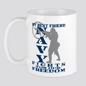 Best Friend Fights Freedom - NAVY Mug